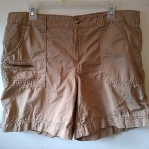Faded Glory khaki shorts - size 14